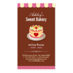 Sweet Bakery Shop - Custom Cakes Chocolates Pastry Pack Of Standard Business Cards