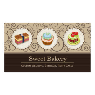 Sweet Bakery Shop - Custom Cupcake Pies Pack Of Standard Business Cards