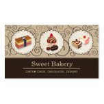 Sweet Bakery Store Custom Cakes Chocolates Dessert Pack Of Standard Business Cards