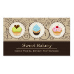 Sweet Bakery Store - Lovely Custom Cupcakes Pack Of Standard Business Cards