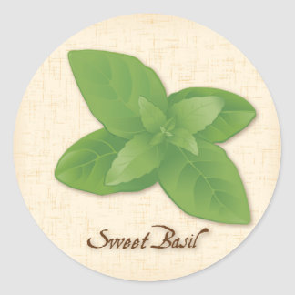Sweet Basil Herb Classic Round Sticker