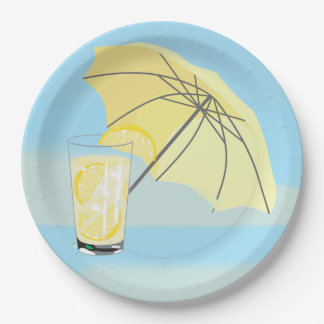 Sweet Beach House Lemonade Party Plate