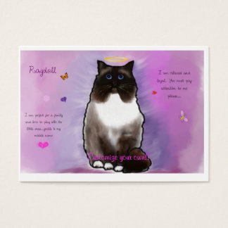 Sweet Beautiful Ragdoll Business Card