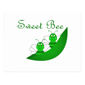 Sweet Bee Twins Postcard