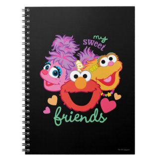 Sweet Best Friends Characters Notebook