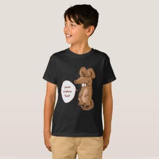 sweet big rat says something funny cartoon T-Shirt