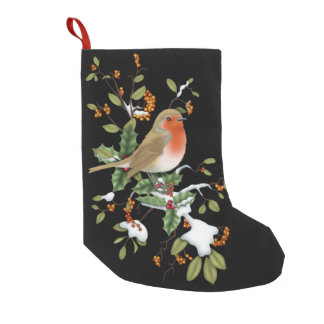 Sweet Bird and Holly Christmas Stocking