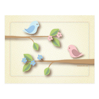 Sweet Birdie Baby Shower Words of Advice Card
