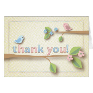 Sweet Birdie Thank You Note Card