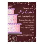 Sweet Birthday Cake Birthday Party Invitation 13 Cm X 18 Cm Invitation Card