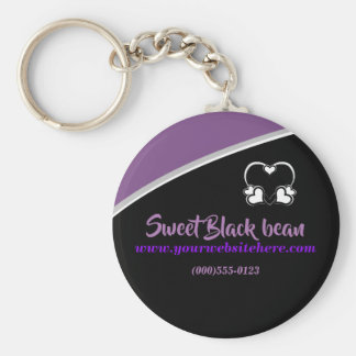 Sweet Black Bean Promotional Business Keychain