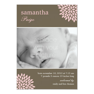 Sweet Bloom Baby Girl Birth Announcement