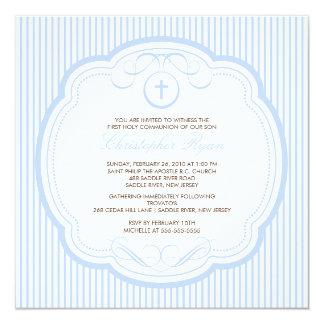 Sweet Blue Cross Boy Communion Invitation