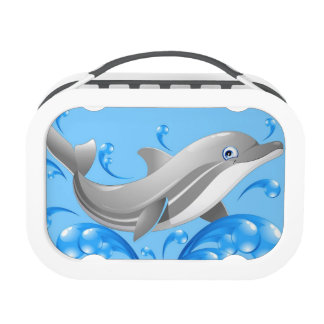 Sweet blue dolphin lunch box