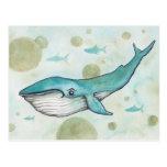 Sweet Blue Whale Postcard