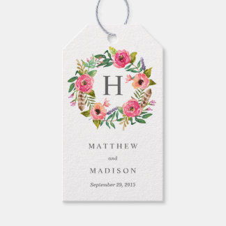 Sweet Bohemian Wreath | Wedding Gift Tags