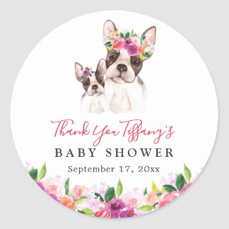 Sweet Boston Mom And Baby Thank You Baby Shower Classic Round Sticker