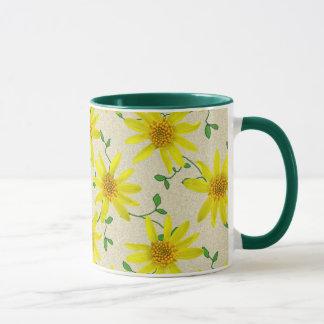 Sweet Botanical Yellow Wildflower Mug