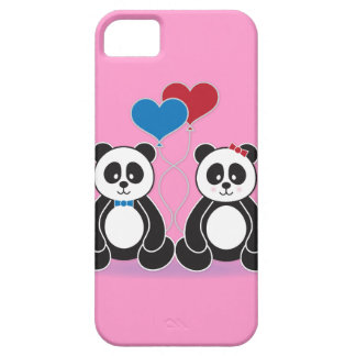 Sweet Boy and Girl Pandas in Love iPhone 5 Cover