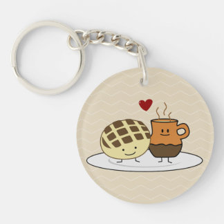 Sweet Bread and Hot Chocolate Pan caliente Mexican Key Ring