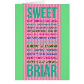 SWEET BRIAR MEMORIES greeting card