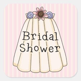 Sweet Bridal Veil Bridal Shower Sticker