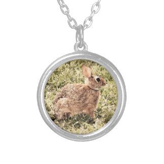 Sweet Brown Bunny Rabbit Custom Necklace
