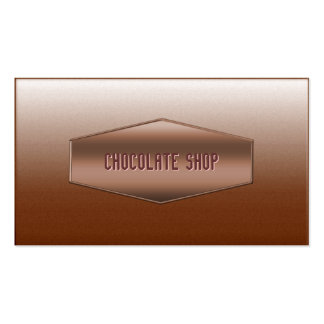 Sweet Brown Chocolate Shop Business Card