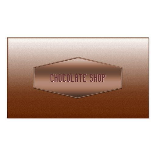 Sweet Brown Chocolate Shop Business Card