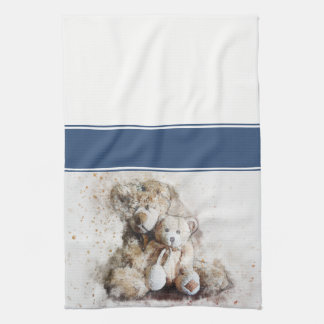 Sweet Brown Teddy Bears Kitchen Towel