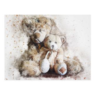 Sweet Brown Teddy Bears Post Card
