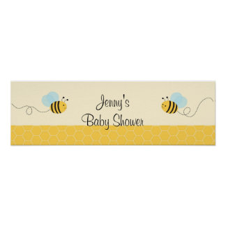 Sweet Bumble Bee Baby Shower Banner Sign Poster