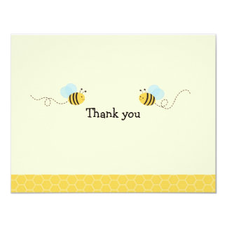 Sweet Bumble Bee Thank You Note Cards 11 Cm X 14 Cm Invitation Card