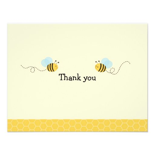 Sweet Bumble Bee Thank You Note Cards Custom Announcement