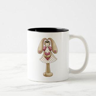 Sweet Bunnies · Bunny & Heart Two-Tone Coffee Mug