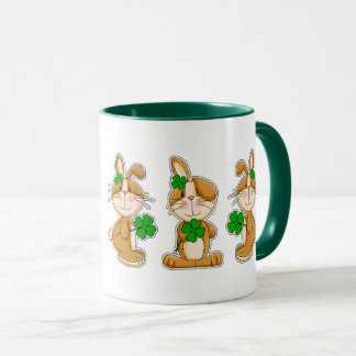 Sweet Bunnies St. Patrick's Day Fun Mugs