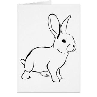 Sweet Bunny Cartoon Adorable Rabbit Cards