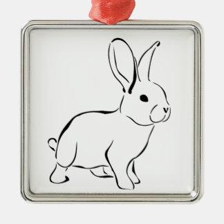 Sweet Bunny Cartoon Adorable Rabbit Christmas Ornament