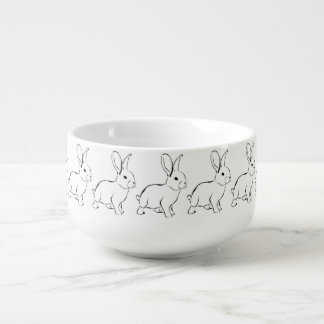 Sweet Bunny Cartoon Adorable Rabbit Soup Mug