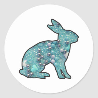 Sweet Bunny Classic Round Sticker