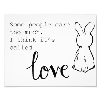 Sweet Bunny Poster Photographic Print