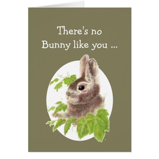 Sweet Bunny Rabbit Fun Birthday card
