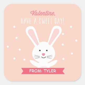 Sweet Bunny Valentine Sticker