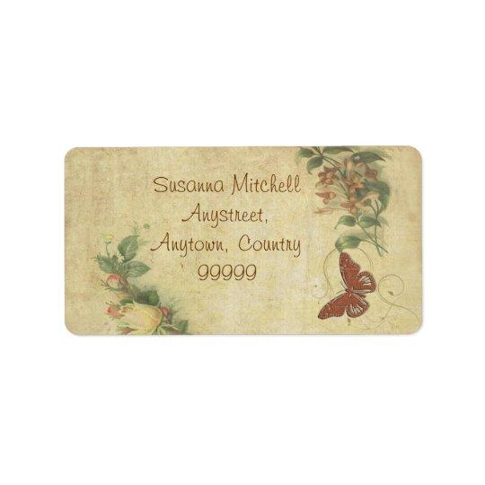 Sweet Butterfly ID198 Label