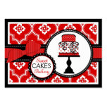 Sweet Cake Business Card Red