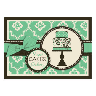 Sweet Cake Business Card Teal