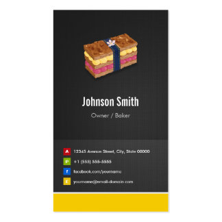 Sweet Cake Millefeuille Mille-feuille Pie Double-Sided Standard Business Cards (Pack Of 100)