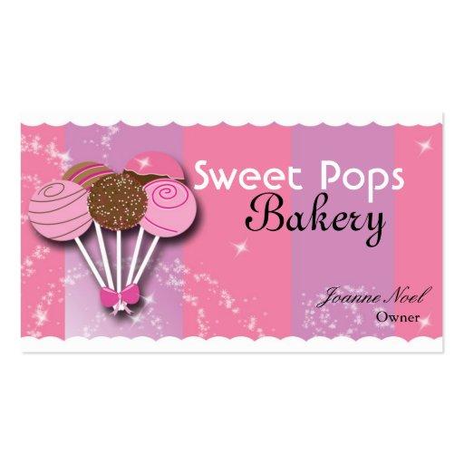 Sweet Cake Pop Bakery Bake Shop Business Card