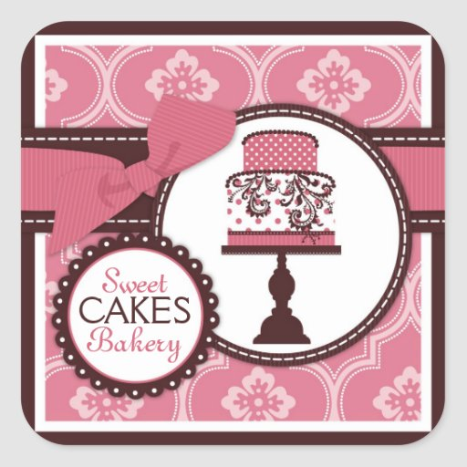 Sweet Cake Sticker Business Sticker
