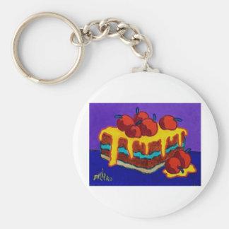 Sweet Cakes Basic Round Button Key Ring